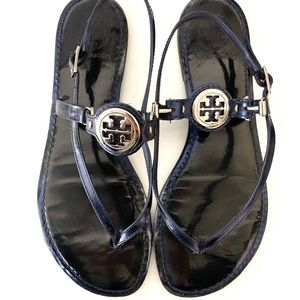 Tory Burch Blue Leather Ali Sandal